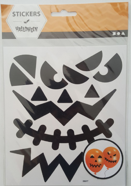 1 Sheet Large Face Halloween Stickers